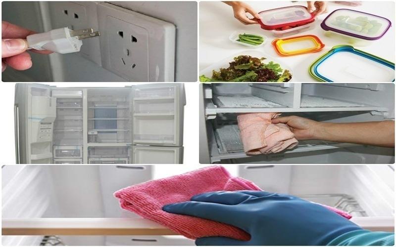 Mẹo giúp làm sạch tủ lạnh là sử dụng giấm ăn