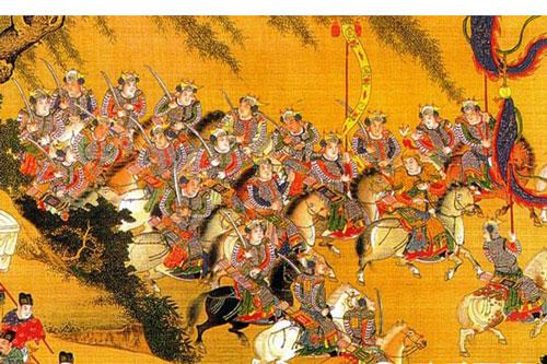 Cấm vệ quân dưới thời Tống là đội quân bảo vệ Hoàng đế hùng hậuvà quy mô nhất trong Trung Hoa (tranh minh họa).
