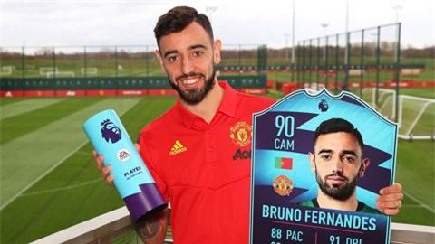 Bruno Fernandes nhận danh hiệu Cầu thủ xuất sắc nhất tháng 2 ở Ngoại hạng Anh