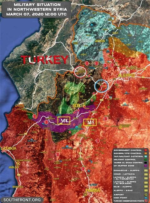 Syria cat doi phien quan Idlib, Tho tan giac mo hoa