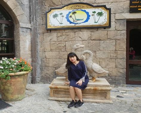 Hình ảnh đời thường giản dị của nữ doanh nhân Lê Thị Hồng Thu.