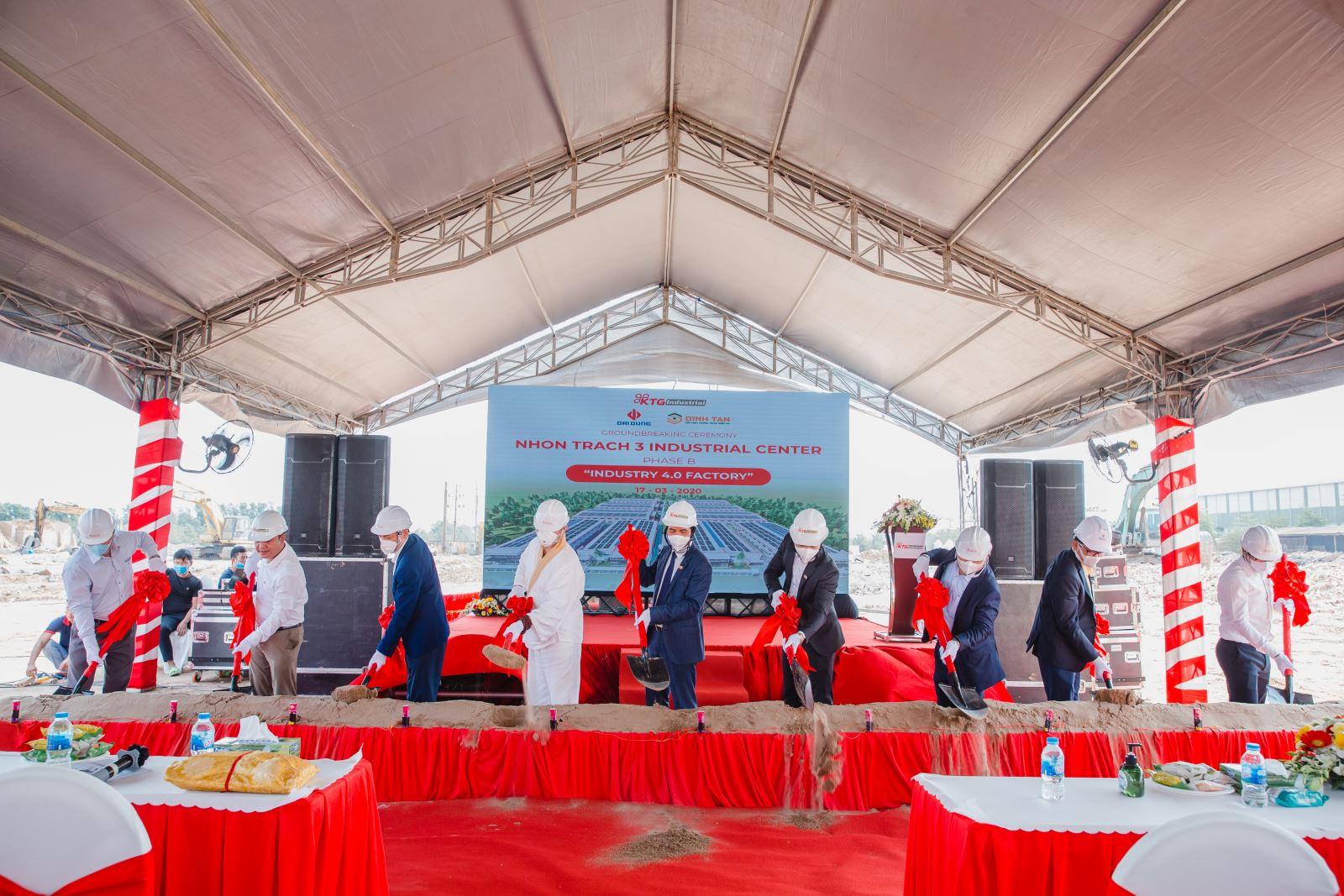 KTG Industrial khởi công xây dựng dự án trung tâm công nghiệp Nhơn Trạch 3B-Giai đoạn 2.