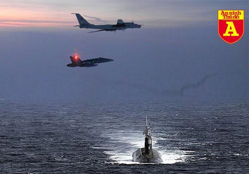 Bộ Tư lệnh Phòng không Bắc Mỹ (NORAD) ngày 11-3 công bố thông tin biên đội máy bay trinh sát săn ngầm Tu-142 Nga quần thảo trên căn cứ Seadragon ngoài khơi bang Alaska, nơi các tàu ngầm hạt nhân USS Connecticut và USS Toledo đang tham gia cuộc diễn tập phá băng (ICEX).
