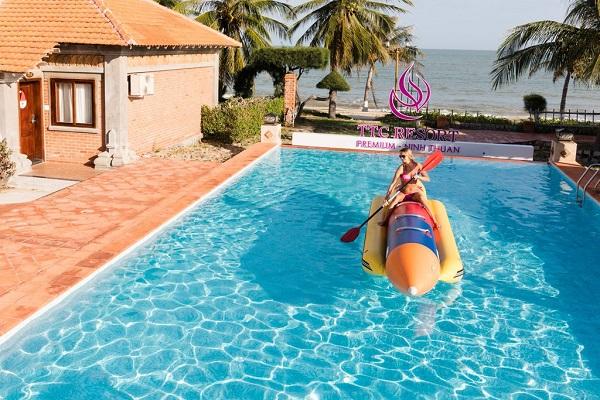 TTC resort premium là một trong những cơ sở lưu trú hạng sang ở Ninh Thuận cũng dành 30 phòng nghỉ cho du khách cách ly.