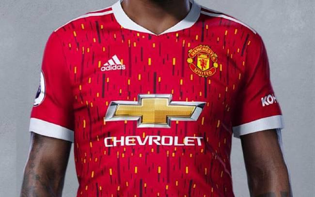 Hình ảnh áo đấu dự kiến của Man Utd mùa 2020/21.