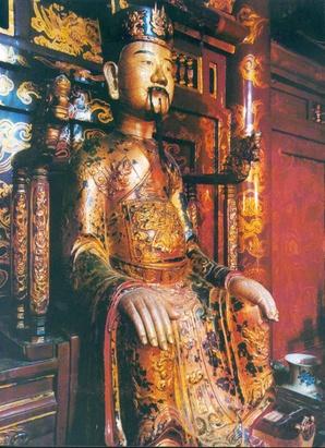 Tượng vua Đinh Tiên Hoàng ở Hoa Lư, Ninh Bình. Ảnh: Wikipedia