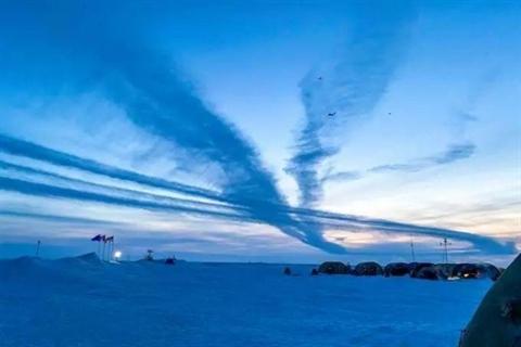 Biên đội máy bay tuần tra săn ngầm Tu-142 của Nga bay ngay trên đầu căn cứ quân sự mới của Mỹ