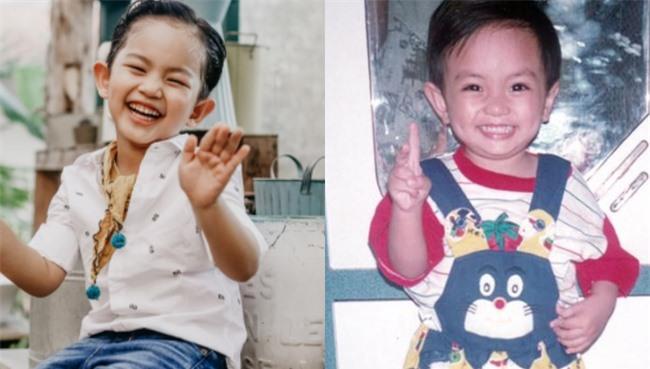 Ảnh Kubi và Phan Hiển ngày bé khó mà tìm được điểm khác nhau.