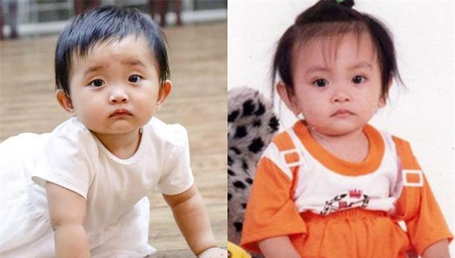 Ảnh của Anna và Phan Hiển ngày nhỏ cũng y chang luôn.
