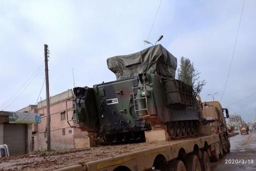 Thổ Nhĩ Kỳ tăng cường hệ thống phòng không tầm ngắn ATILGAN tới Syria. Ảnh: South Front.
