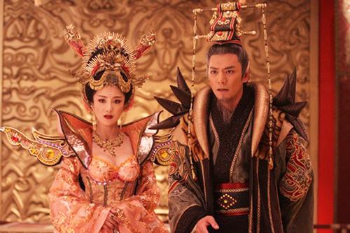 Hình ảnh Đát Kỷ và Trụ Vương trên phim.