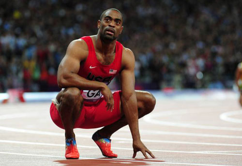 =2. Tyson Gay (Mỹ). 9.69 giây. Ảnh: Bleacherreport.com.