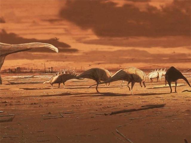 Phát hiện nhiều dấu chân lớn của khủng long vây kiếm - 1