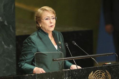 Cao ủy Nhân quyền LHQ Michelle Bachelet. (Ảnh: AP)
