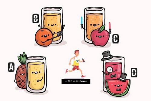Bạn chọn ly nước trái cây nào?