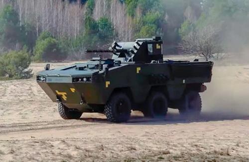 Xe chiến đấu bộ binh bánh lốp Otaman của Ukraine. Ảnh: Defence Blog.