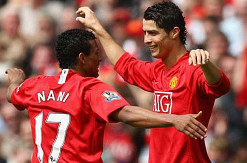 Nani và Ronaldo.