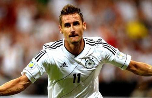1. Miroslav Klose (Đức) bàn thắng: 16. Ảnh: These Football Times.