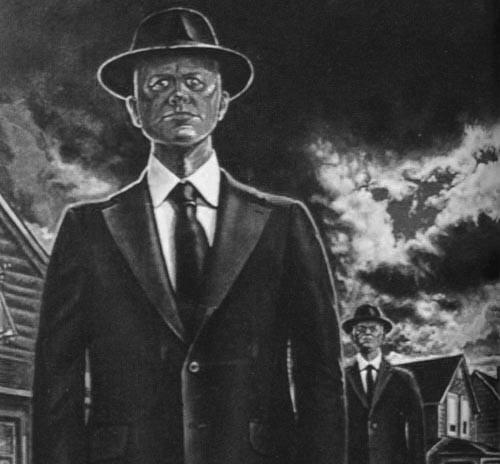 Những người mặc áo đen bí ẩn thường xuất hiện ngay khi có ai đó nhìn thấy UFO.