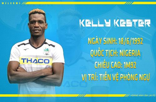 =4. Kelly Kester: 50.000 Euro khoảng 1,260 tỷ đồng. Ảnh: Hoàng Anh Gia Lai FC.
