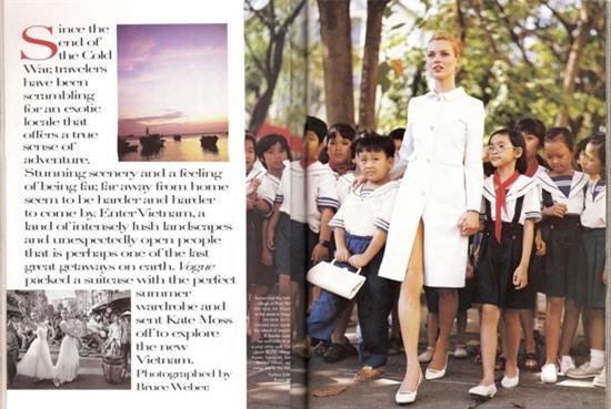 Bộ ảnh siêu mẫu thế giới Kate Moss chụp tại Việt Nam 24 năm trước bất ngờ 'gây sốt' trở lại 2