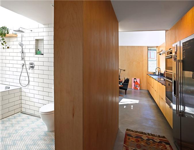 Ngôi nhà 54m² nhưng với cách thiết kế sáng tạo đã biến mặt tiền 4m thành 2 không gian vừa cho thuê vừa sử dụng tách biệt - Ảnh 8.