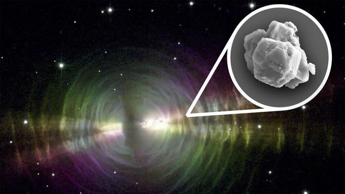 """Ảnh đồ họa mô tả """"viên nang thời gian"""" ngoài hành tinh mang các vật chất tiền mặt trời, theo mưa sao băng rơi xuống trái đất - Ảnh: NASA/JPL/STScI)"""