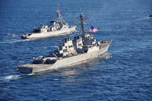 Một biên đội chiến hạm của Hải quân NATO tại biển Đen. Ảnh: Pravda.