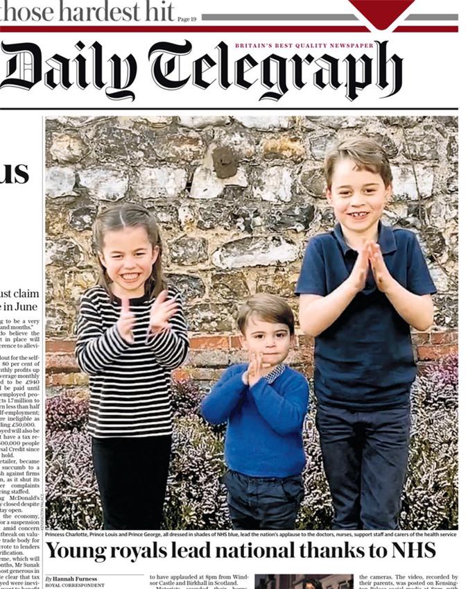 3 con nhà Công nương Kate gây sốt MXH khi xuất hiện trong đoạn video cổ vũ đội ngũ y tế chống dịch Covid-19, Hoàng tử út Louis gây bất ngờ hơn cả - Ảnh 3.