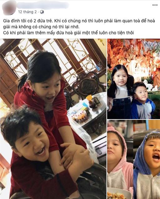 """Bạn trai tin đồn nhiều lần chia sẻ ảnh bé Be và con gái chơi thân thiết với nhau. Thậm chí anh còn ẩn ý khẳng định mẹ con Thu Quỳnh chính là """"gia đình"""" của anh."""