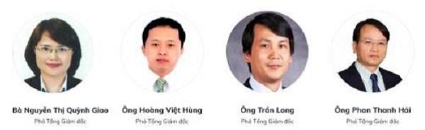Các Phó Tổng giám đốc mới của BIDV.