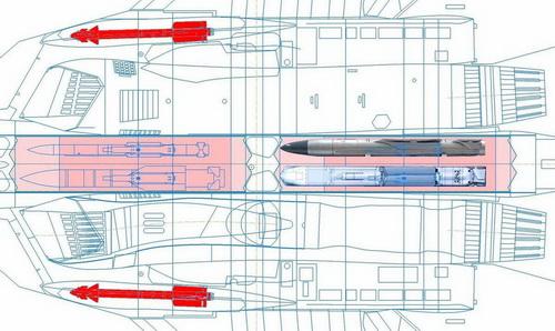 Mô phỏng khoang vũ khí của Su-57. Ảnh: The Drive.
