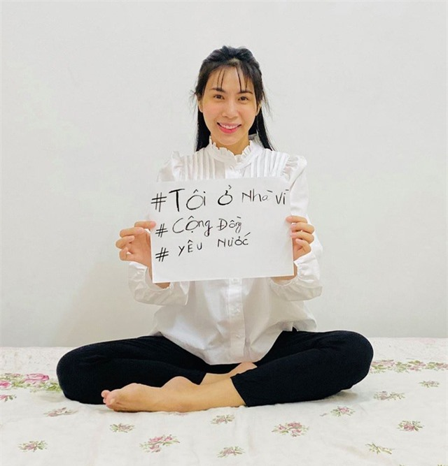 Loạt sao Việt tung khẩu hiệu ở nhà để chống dịch Covid-19 - 4
