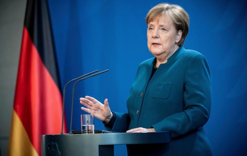 Thủ tướng Merkel đưa ra thông điệp ngày 22/3/2020.