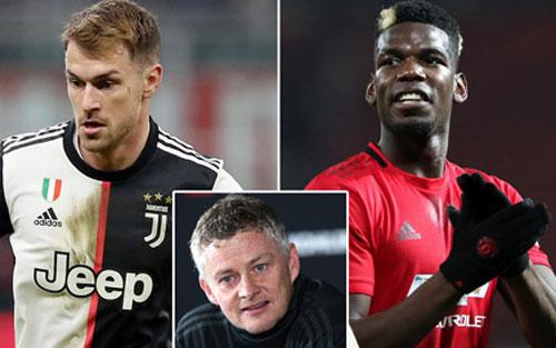 """Juventus dùng Ramsey để thuyết phục Solskjaer """"gật đầu"""" bán Pogba"""
