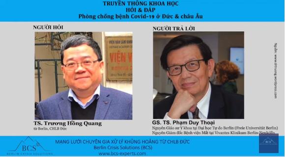 TS. Trương Hồng Quang trò chyện trực tuyến với GS. TS. Phạm Duy Thoại.
