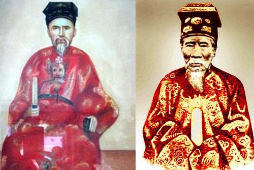 Thọ Xuân vương Miên Định (trái) và Tuy Lý vương Miên Trinh là những người được phong tước vương khi vẫn còn sống. Ảnh tư liệu