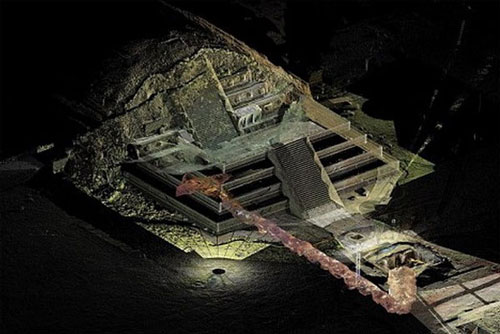 """Bí ẩn về """"con sông"""" thủy ngân bên dưới kim tự tháp của người Maya"""