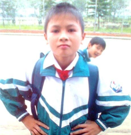 HÌnh ảnh của cầu thủ Quang Hải hồi nhỏ.