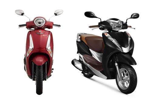 So sánh Honda Lead với Yamaha Latte
