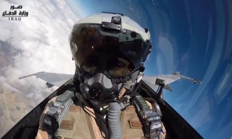 Tiêm kích F-16IQ tham gia không kích IS.