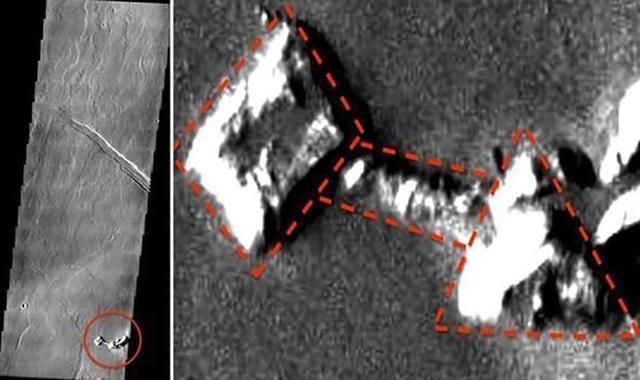 Hình ảnh cấu trúc mới được phát hiện trên sao Hoả đang gây tranh cãi.