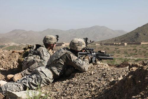 Binh sỹ Mỹ tại tỉnh Paktīkā, Afghanistan. (Ảnh: Britannica)