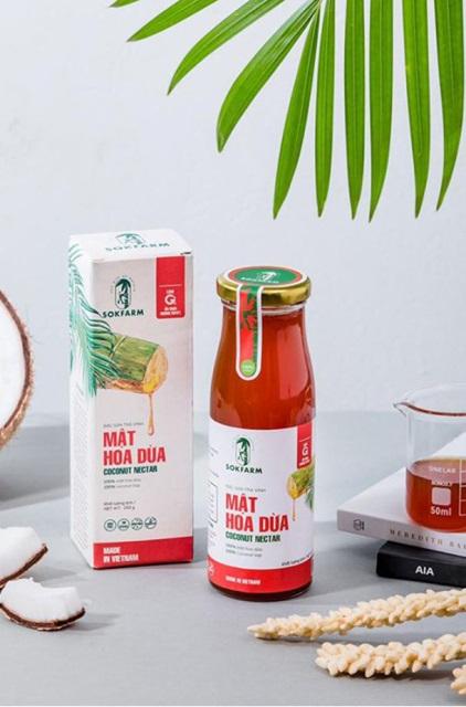 Sản phẩm mật hoa dừa Sokfarm.