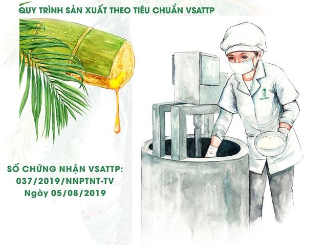 Mật hoa dừa Sokfarm sẽ được chuỗi giá trị của BRG Hapro hỗ trợ