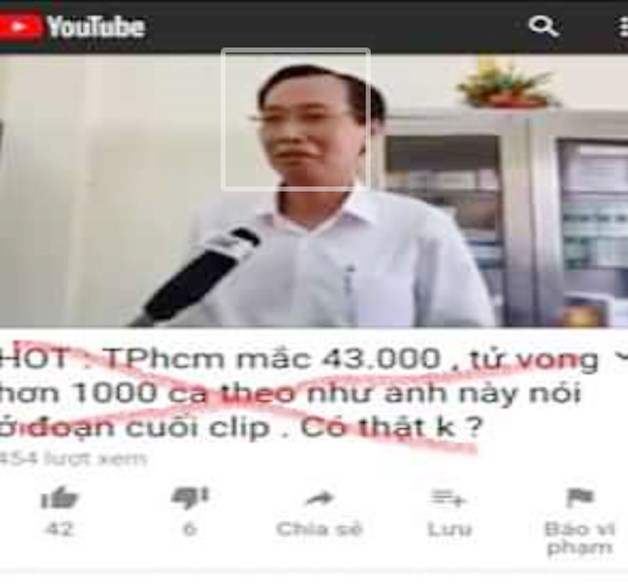 """Clip có thông tin """"TPHCM có 1.000 người tử vong vì dịch Covid-19"""" là clip cắt ghép, xuyên tạc."""