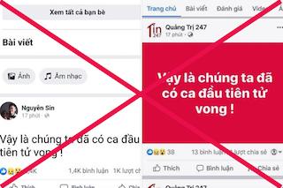 Mời Facebooker Nguyễn Sin làm việc vụ loan tin người chết vì dịch Covid-19
