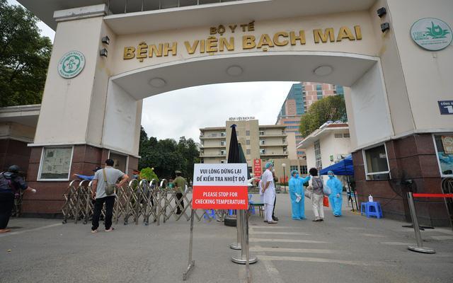 Bệnh viện Bạch Mai được coi là ổ dịch.
