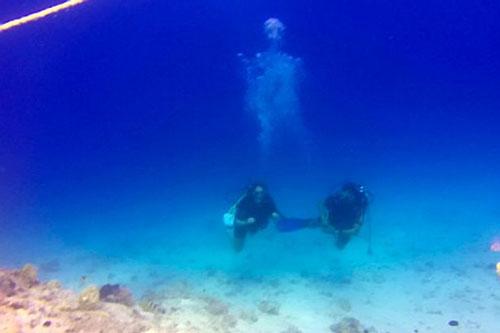 """""""Lạnh người"""" khi phát hiện """"bộ xương"""" trắng toát trong tấm ảnh lặn biển"""