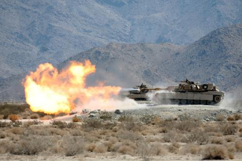 Xe tăng M1 Abrams của Mỹ.